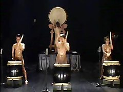Japenese Nude Drummers