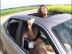 european brunette rubbing teasing big tits blowjob car outdoor riding doggystyle cumshot orgasm anal ass to mouth facial reality hardcore