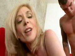 stockings cumshot hardcore blonde milf mature swallow sofa pussyfucking cumswallow
