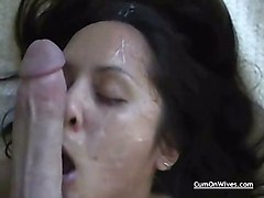 cumshot facial blowjob amateur homemade wife oral wives