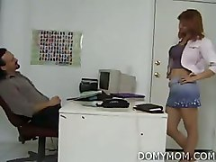 Milf Office redheads shaved pussy