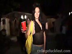 nice girl drunk on party paule