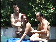 Anal Group Gangbang Redhead Anal Sex Blowjob Caucasian Cum Shot Gangbang Oral Sex Outdoor Pornstar Redhead Vaginal Sex Katja Kassin