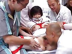 Asian Bizarre Japanese hairy pussy gang bang