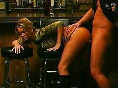 MILF Blonde Blonde Blowjob Boots Caucasian Couple Cum Shot Licking Vagina MILF Oral Sex Police Uniform Vaginal Sex