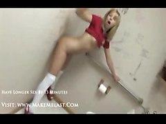 stockings teen blonde pornstar masturbation solo highheels