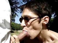 cum blowjob mature suck outdoor