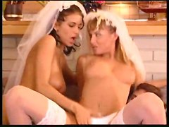 anal stockings cumshot facial blowjob threesome asstomouth pussyfucking bride