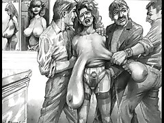 cartoon toon bondage bdsm comic art artwork fetish