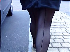 Flashing Matures Stockings