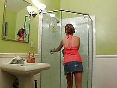 Teens Lesbian MILF Bathroom Big Tits Caucasian Lesbian Licking Vagina MILF Masturbation Oral Sex Shaved Small Tits Teen Vaginal Masturbation