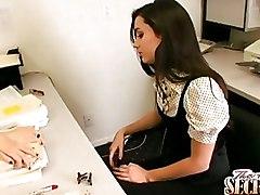 Celeste Star Georgia Jones Lesbian Office Secretaries lesbians muff diving secretary lesbian