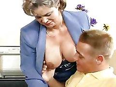 Big Tits Mature Office
