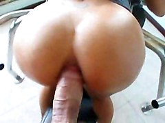 Anal POV Anal Sex Big Ass Black-haired Caucasian Couple POV
