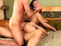 asian threesome teasing stockings dp doublepenetration thong longhair anal assfucking pussyfucking smalltits doggystyle bed blowjob multipleblowjobs gagging puffynipples pussytomouth trimmed pinkpussy cumshot facial