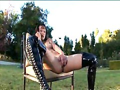 Asian Masturbation Asian Black-haired Boots Fetish Masturbation Outdoor Shaved Solo Girl Vaginal Masturbation