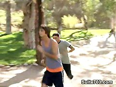 gay hardcore hung hairy legs dempsey stearns public sex park 3-way 10