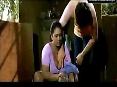 Clip from indian masala movie featuring Shakeela and a young boy