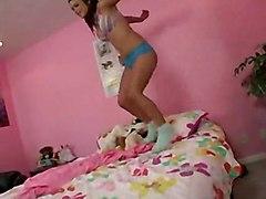 cumshot teen hardcore latina blowjob POV pussyfucking pigtail