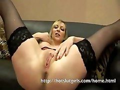 blond solo masturbation