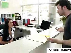 sexy office sex work pretty huge-tits hot pornstar punish rough busty blowjob brunette booty deep-throat hardcore oral big-tits fight punishment bitch angry fake-tits savannah-stern