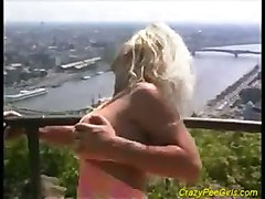 kinky anal outdoor fetish peeing big tits blonde