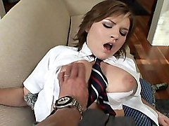 Sweet Schoolgirl  Sucking  Fucking And Swallowing Like A Good Girl
