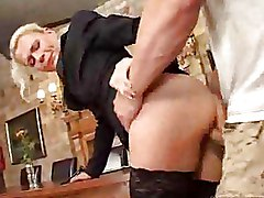 Mature Riding Stockings anal blonde
