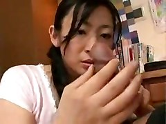 cum cumeating slutty asian whore fucking guys cock