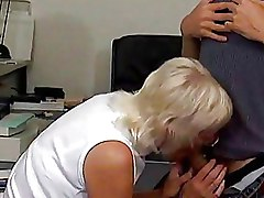 Big Tits Granny Office