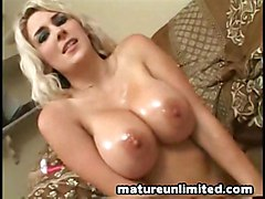 cum sperm sex big tits milf mature mouth titjob oil teasing mom in tittyfuck