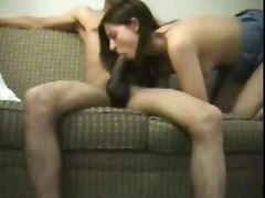 amateur homemade wife girlfriend blowjob pov interracial cumshot facial small tits handjob
