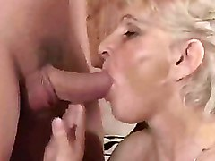 Balls Licking Blowjobs Granny Moms and Boys Red Stockings