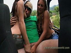 Teens Public Group Car Caucasian Handjob Masturbation Public Teen Threesome