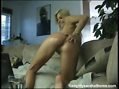 blonde pornstar oiled tattoo masturbation solo stripping teasing