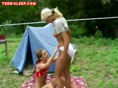 lesbian teen blonde petite pussylicking smalltits oral outdoors facesitting