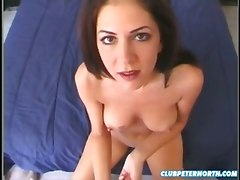 POV naked girl masturbation blowjob facial
