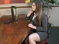 office  at work  cute  babe  hairstyle  long hair  shy  mini  unior  business clothes  white  hairy  natural tits  piercing  big ass  sofa  plump  face  stylish  