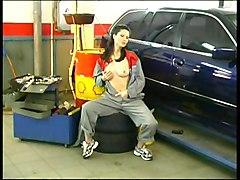Mechanic Girl Getting Horny
