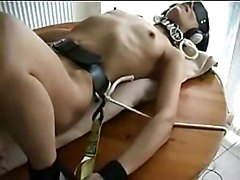Anal Fetish Anal Masturbation Black-haired Bondage Caucasian Couple Domination Masturbation Small Tits Toys Vaginal Masturbation