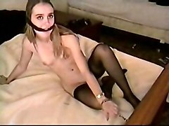 Teens Fetish Blonde Blonde Bondage Caucasian Shaved Small Tits Solo Girl Stockings Teen