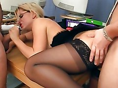 Group Sex Office Stockings gangbang secretary