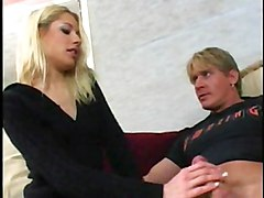 Blonde Blonde Blowjob Caucasian Couple Cum Shot Muscular Oral Sex Shaved Tattoos Vaginal Sex