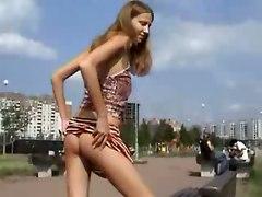 russian public amateur homemade outdoor tight pussy teasing striptease brunette skinny ass