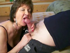 mature brunette blowjob amateur homemade