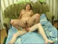 Mom and son hard anal orgy at home