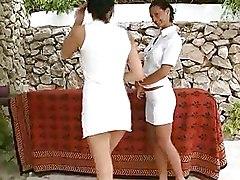 Lesbian Massage dildoing eating lesbians licking love