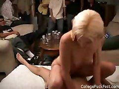 hardcore party group blonde coed fucking