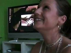 blowjob brunette amateur deepthroat realamateur
