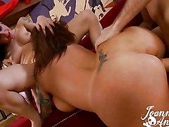 Big Tits Anal Group Creampie Anal Sex Big Tits Blowjob Caucasian Cream Pie Oral Sex Pornstar Tattoos Threesome Vaginal Sex Joanna Angel Mason Moore
